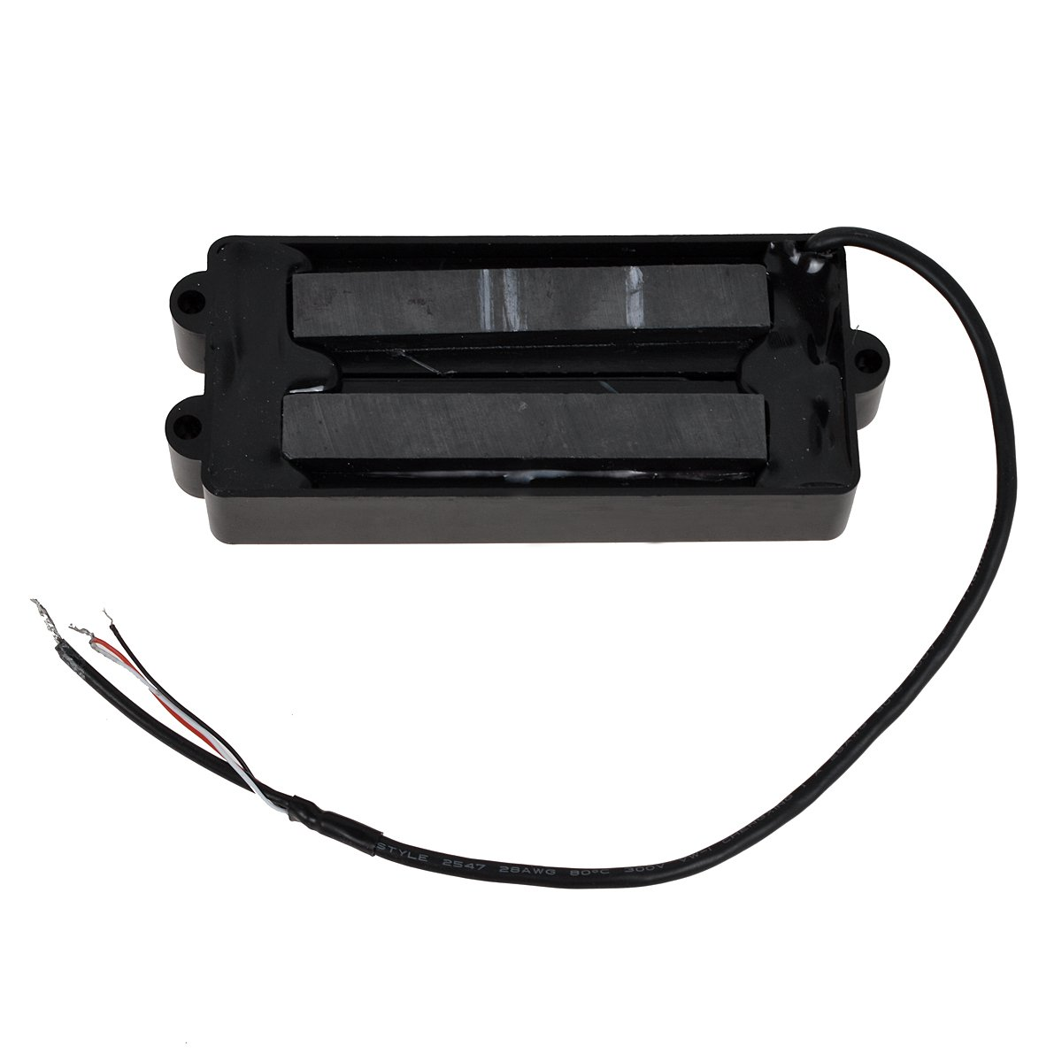 Black 5 String Bass Guitar Pickup Humbucker For Music Man Bass Coil Tap by Kmise (Image #2)