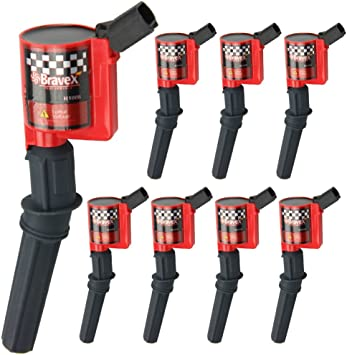 8x High Performance Ignition Coil Pack Replacement for Ford F150 4.6L 5.4L DG508