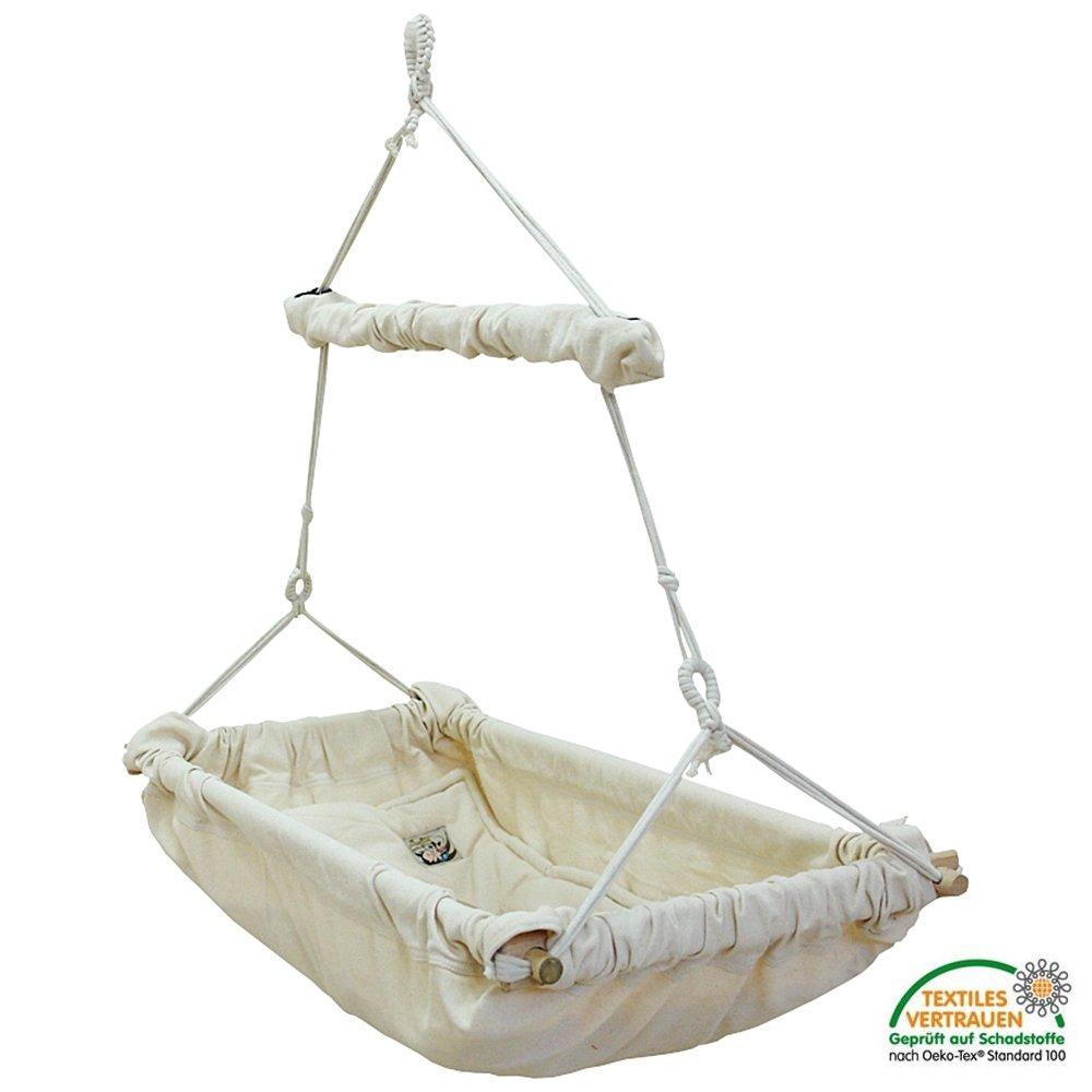 Babyh/ängematte NIDO Bambini Luxus Babywiege mit Holzrahmen