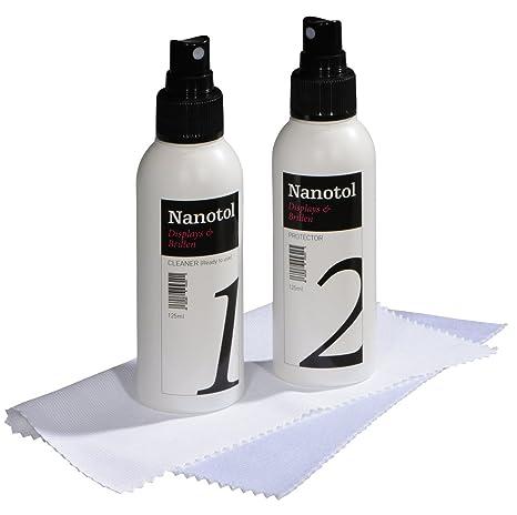 Nanotol Pantallas & Gafas limpiador Juego – Lotus Efecto, Juego Completo con Cleaner & Protector