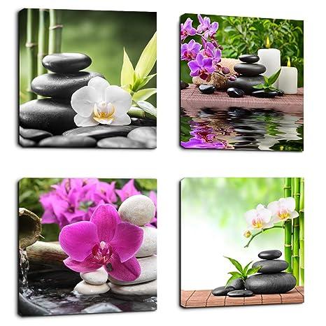 Amazon.com: Lienzo artístico Zen Prints Spa decoración de ...