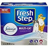 Fresh Step Cat Litter, Multi-Cat with Febreze, 20 Pound