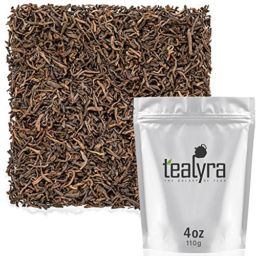(Tealyra - Ripe Pu'erh Tea - 20 Years Aged Loose Leaf from Yunnan - China - 100% Natural - Caffeine Level High - Weight Loss Tea - Aged Black Tea Pu Er - 110g (4-ounce))