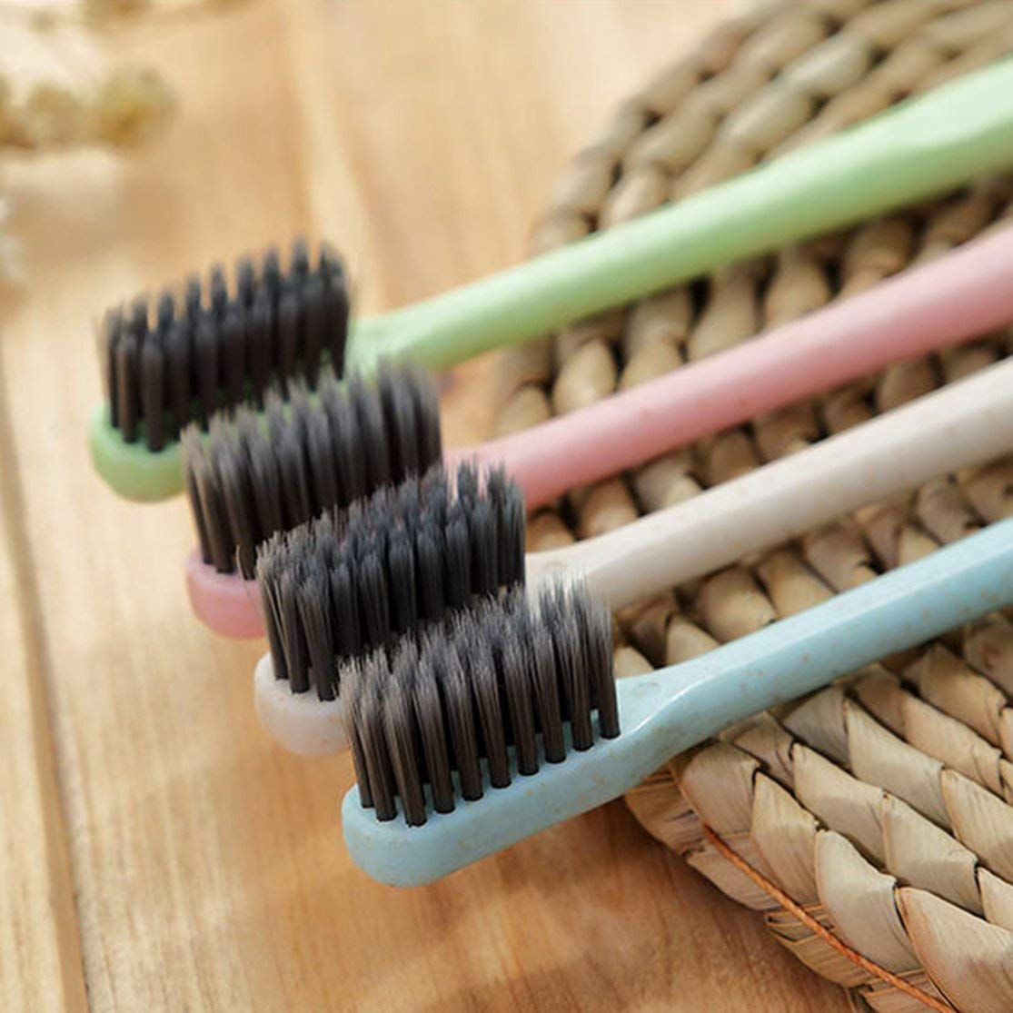 schlanke Bambuskohle-Borstenb/ürste Erwachsene Kinder Zahnb/ürste K-866 Weizenstroh Zahnb/ürste Zahnreinigungsb/ürste Weiche