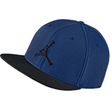 0dec1cd4870996 Jordan Cap - Jumpman Snapback Blue Black Size  Adjustable  Amazon.co.uk   Clothing