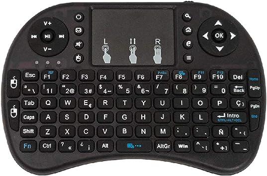 Mando BSL con Teclado y Ratón Inteligente | Inalámbrico RF 2.4GH| Universal Compatible con Smart TV-PC-Caja Android y Consola De Videojuegos | con Desplazamiento Lateral.: Amazon.es: Electrónica