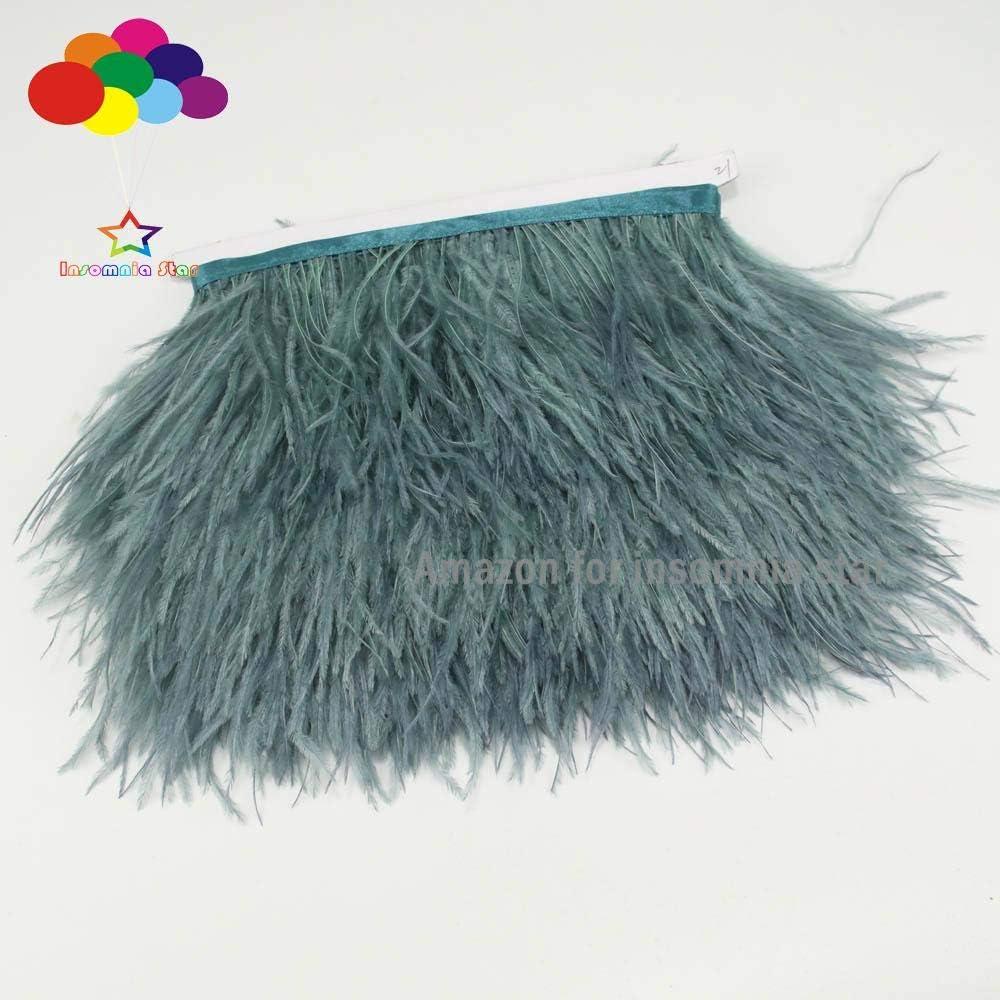 INSOMNIA STAR 2 Yard New Plum Purple Ostrich Feather Trimming Fringe on Satin Header in Width 8-10CM//3-4inch
