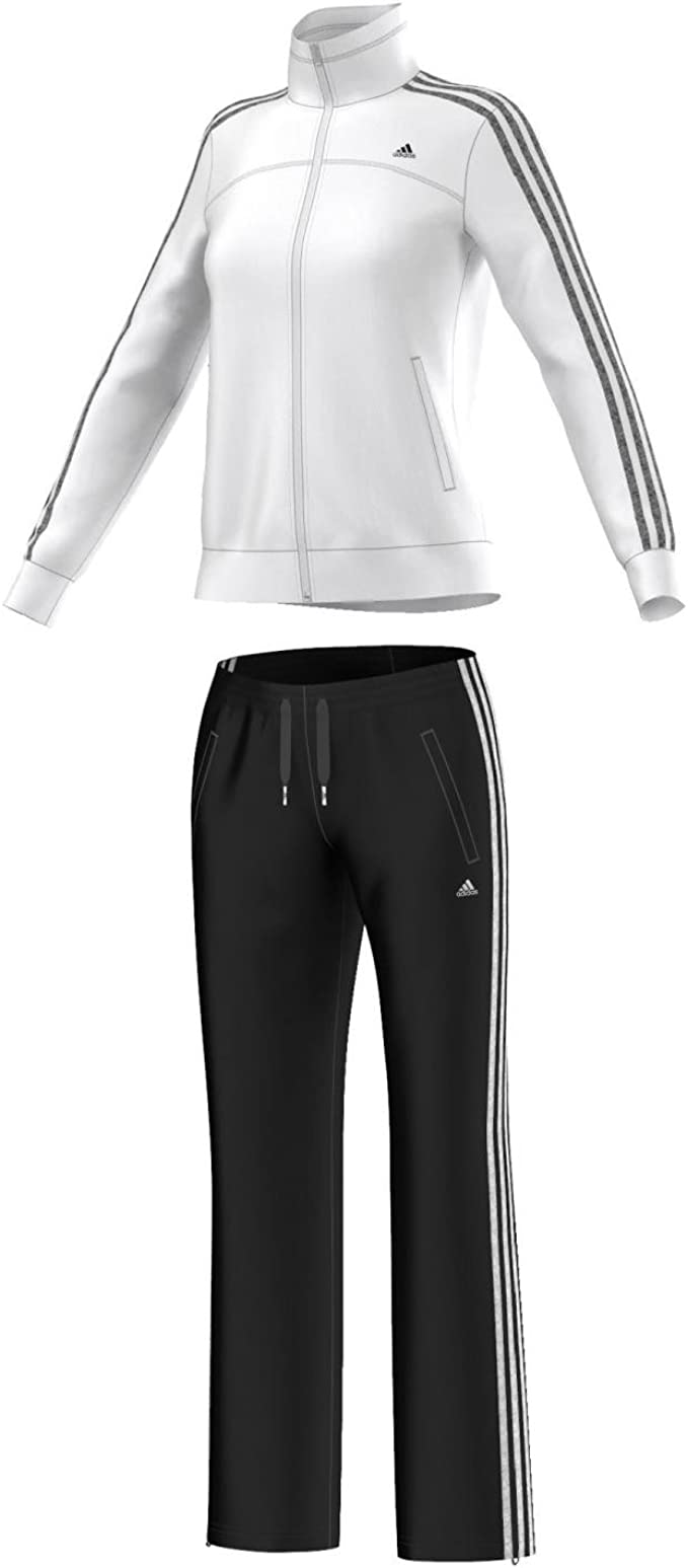 adidas Damen Trainingsanzug Essentials 3-Stripes Knit Suit
