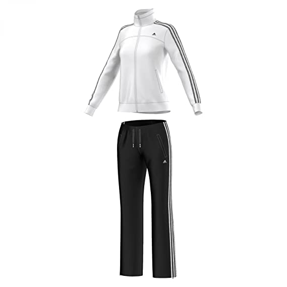 adidas Damen Trainingsanzug Essentials 3 Stripes Knit Suit