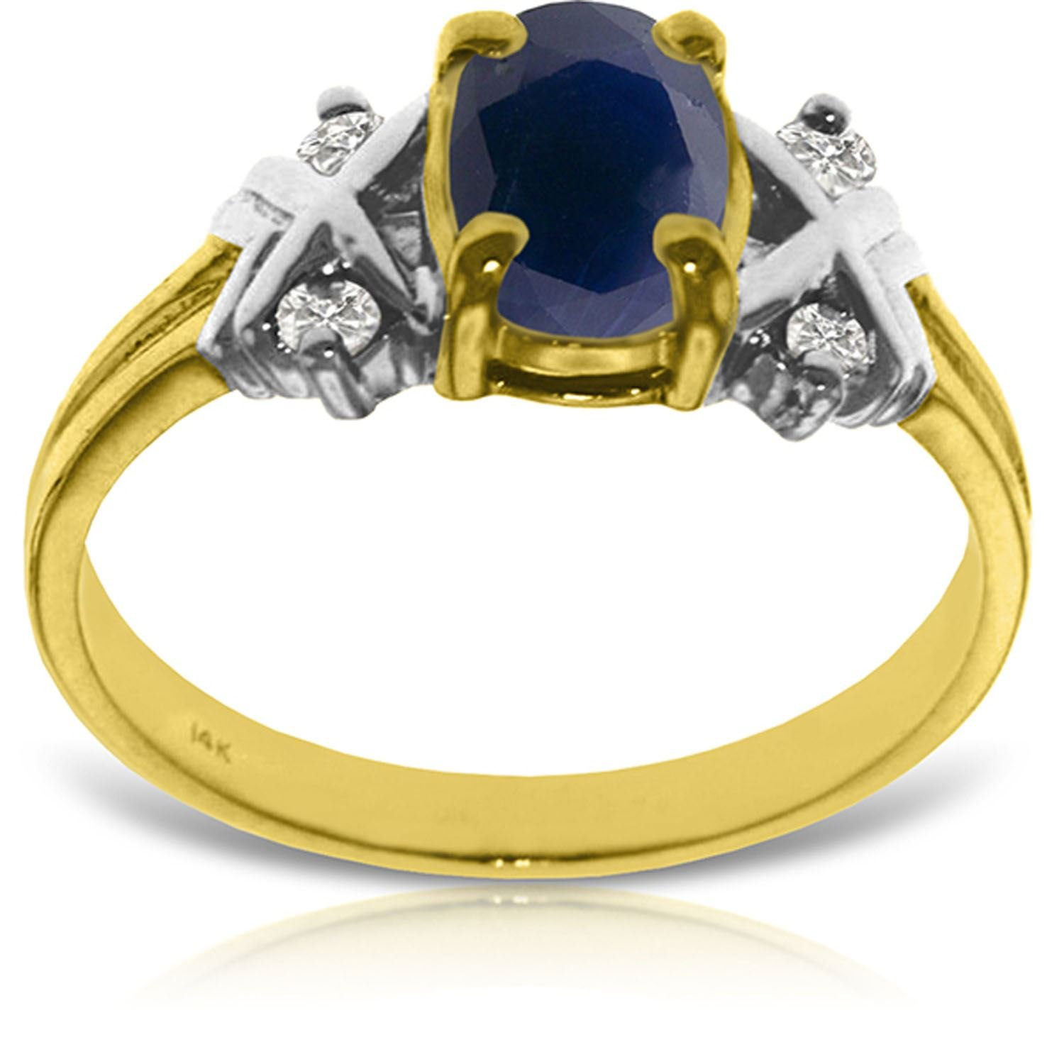 ALARRI 1.47 Carat 14K Solid Gold Love Lessons Sapphire Diamond Ring With Ring Size 6 by ALARRI (Image #2)