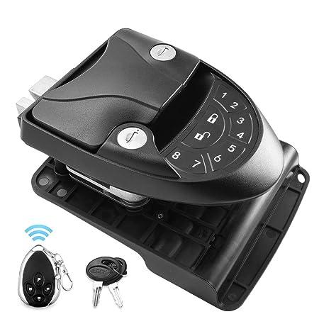 img buy MICTUNING RV Keyless Entry Door Lock Handle Latch, 20Meter Wireless Remote Control for Trailer Caravan Camper Lock with Keypad & Fob