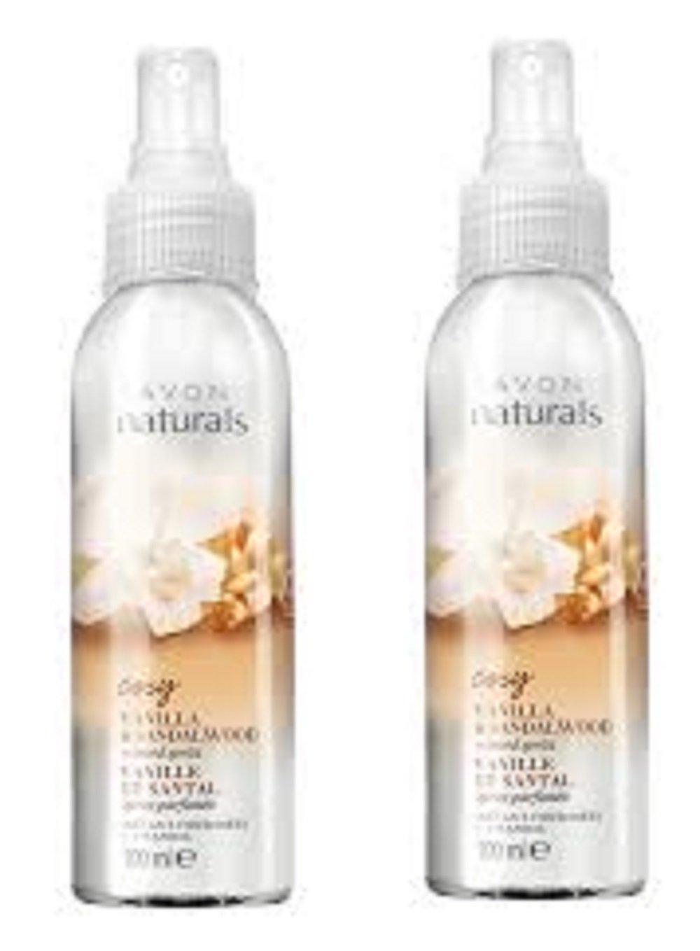 2 x Avon Naturals Vanilla and Sandalwood scented Spritz - 100ml