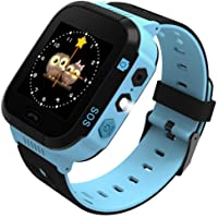 Smart Watch for Girls Boys GPS Locator Pedometer Fitness Tracker Touch Camera Games Anti Lost Alarm Clock Smart Watch Bracelet Compatible with iOS Android Birthday Gift