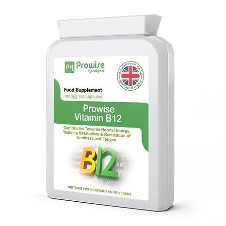 Prowise vitamina B12 metilcobalamina 1000 mcg - 120 cápsulas (Contribuir a la energía normal,