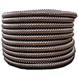 (2'' dia x 50 ft, Black) HydroMaxx Flexible Corrugated PVC Split Tubing and Convoluted Wire Loom - UV Stabilized - Rated for Outdoor Use