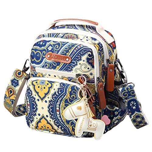 Mummy Multifunction Handbag Canvas Baby Nappy Diaper Bag Tote Shoulder Bags Bleu