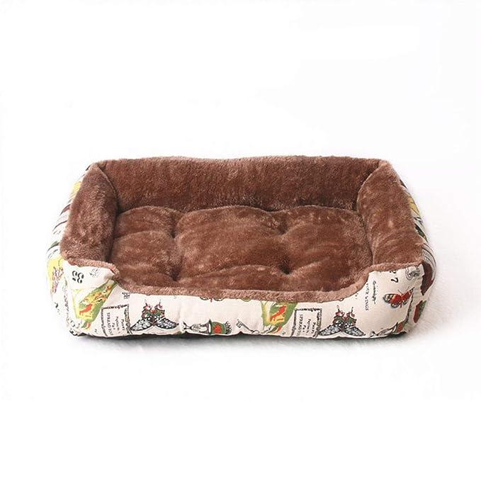 HenLooo Cama para Perros, Lujoso Engrosamiento de Terciopelo ártico de Alto Grado, Adecuado para Perros pequeños y medianos como Teddy, Pomeranian, ...