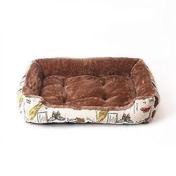 HenLooo Cama para Perros, Lujoso Engrosamiento de Terciopelo ártico de Alto Grado, Adecuado para Perros pequeños y medianos como Teddy, Pomeranian, Poodle ...