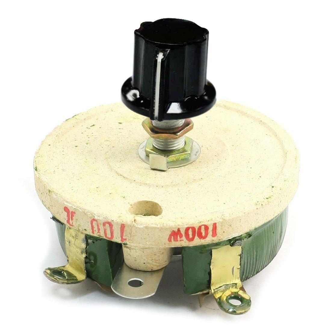 Wirewound Rheostat - SODIAL(R)100W 100 Ohm Ceramic Wirewound Potentiometer Rotary Resistor Rheostat SODIAL (R)