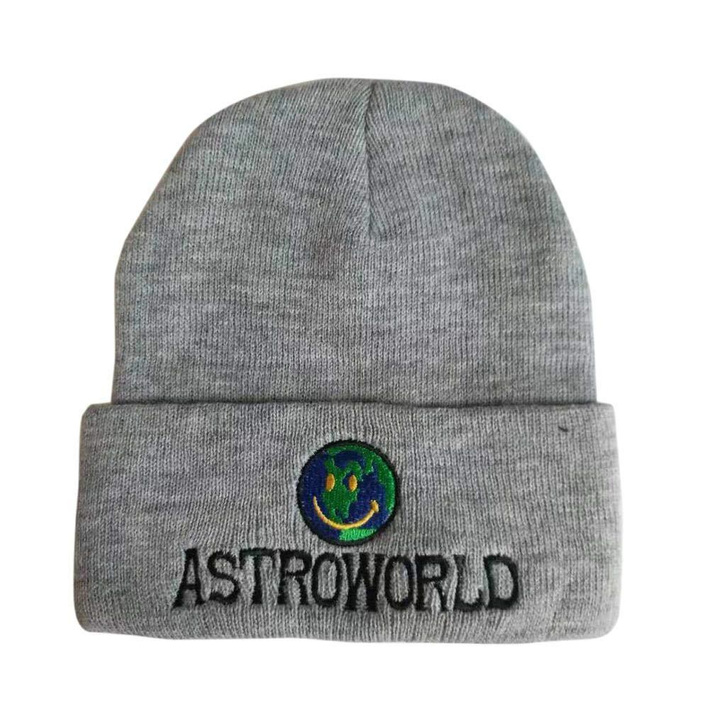 Invierno Sombrero Beanie Blanco Astroworld Carta Bordado de Tierra Garder AU c/álido Gorro de Punto Fancylande Gorro Tejer
