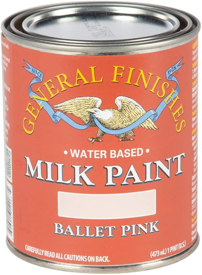 General Finishes Water Based Milk Paint, 1 Pint, Ballet Pink