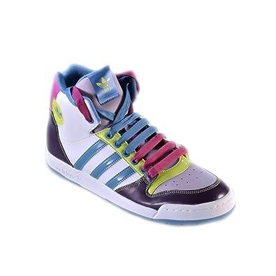 low priced c8c1b 2885c adidas midiru court mid W Herrenschuhe hoch weiss multicolor basket Bianco,  43,5