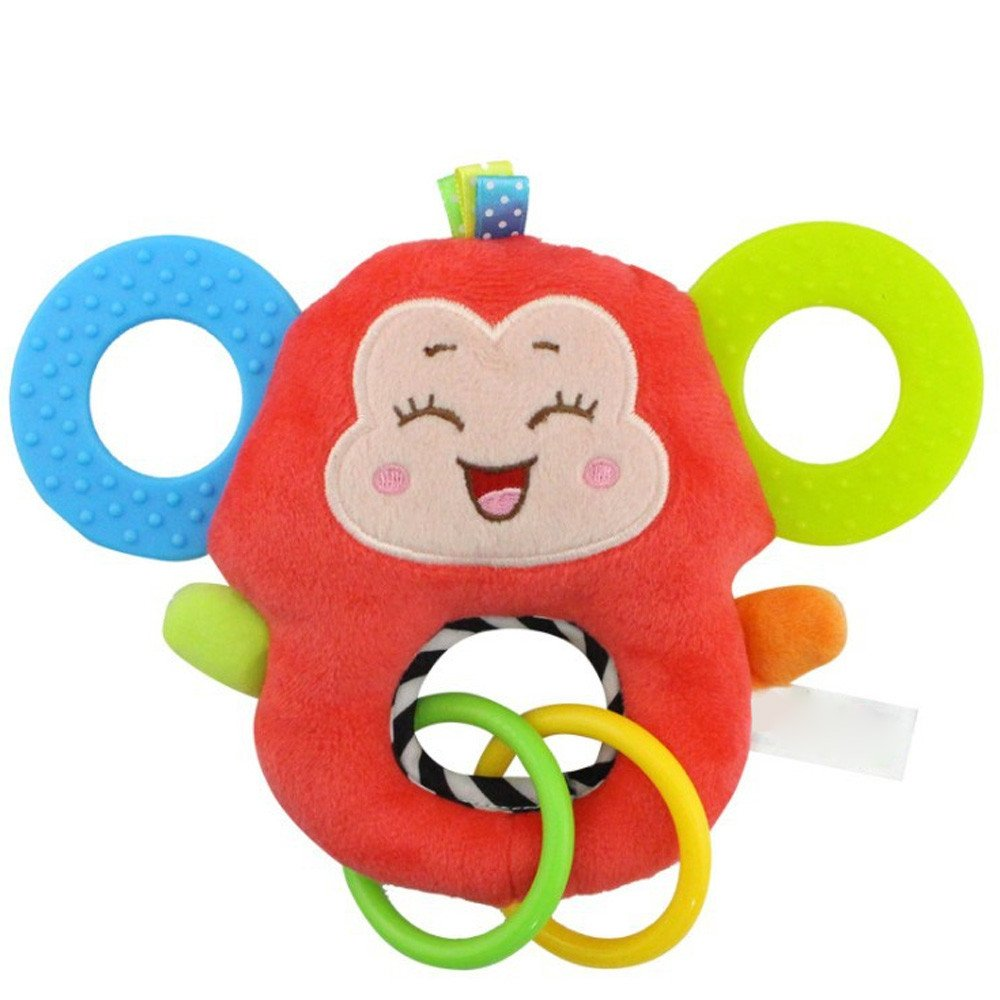Sunny/&Love 2018 O Type Newborn Baby Infant Animal Soft Rattles Teether Hanging Bell Plush Bebe Toys