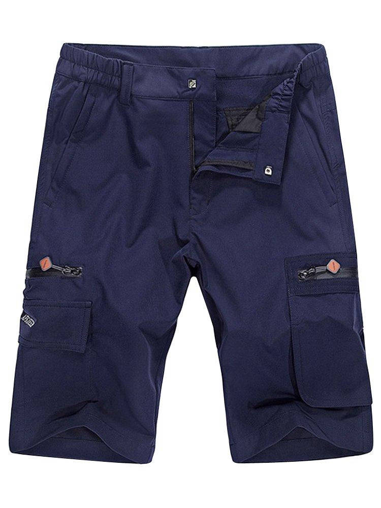 Men's Lightweight Hiking Quick Dry Cargo Short Blue