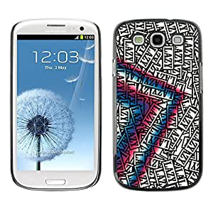 LASTONE PHONE CASE / Carcasa Funda Prima Delgada SLIM Casa Carcasa Funda Case Bandera Cover Armor Shell para Samsung Galaxy S3 I9300 / Lazy Art Quote Motivational Success Random