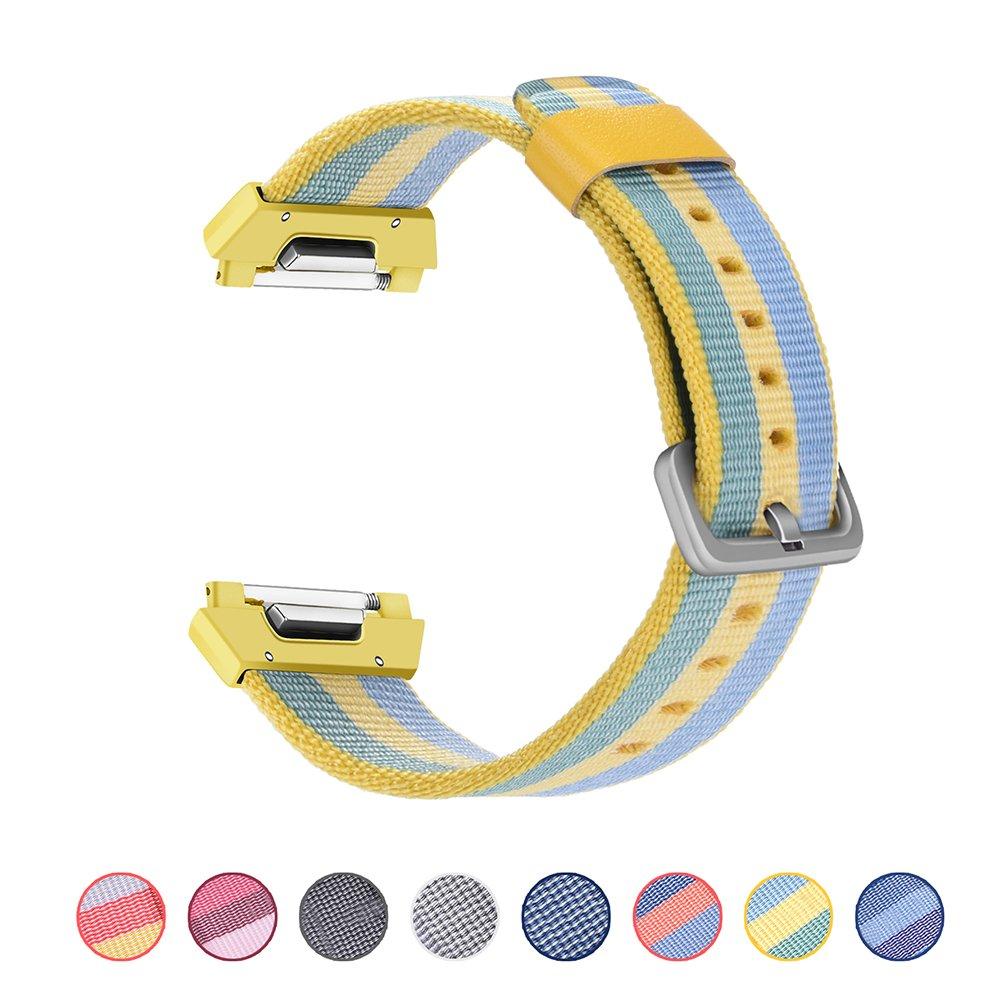 CHENIAシリコン時計バンド交換用スポーツアクセサリー調整可能なシリコンバンドfor Fitbit Ionic Smartwatch Nylon-Pollen Nylon-Pollen B077BW7964