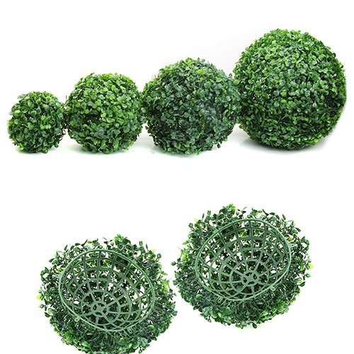 Sunflower Topiary - Aland Artificial Plant Ball Topiary Tree Boxwood Home Outdoor Wedding Party Decoration Simulation of The Ball of Golf Balls in Milan 30 cm