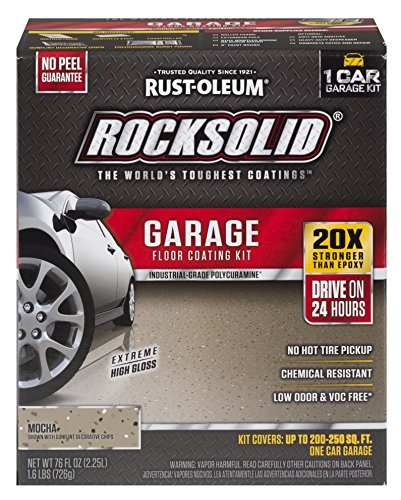 Rust-Oleum 60009 RockSolid 1 Car Garage Floor Coating Kit, Moch