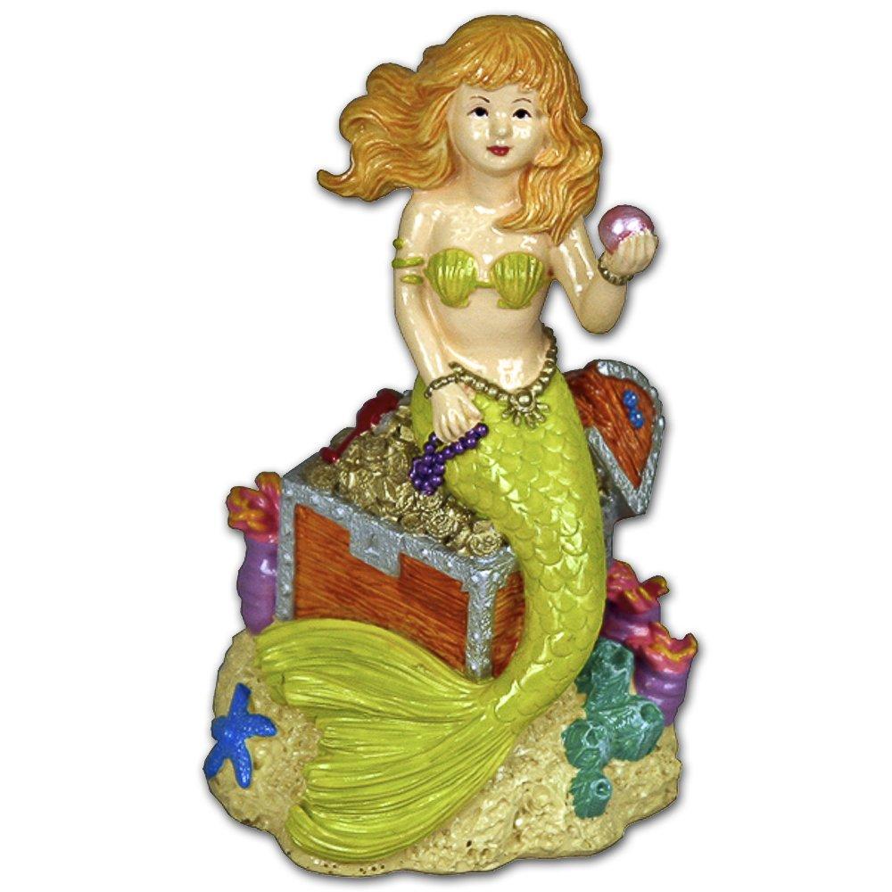 BLUE RIBBON Cinta azul para mascotas, productos exóticos ambientes de sirena con tesoro, adorno para acuario: Amazon.es: Productos para mascotas