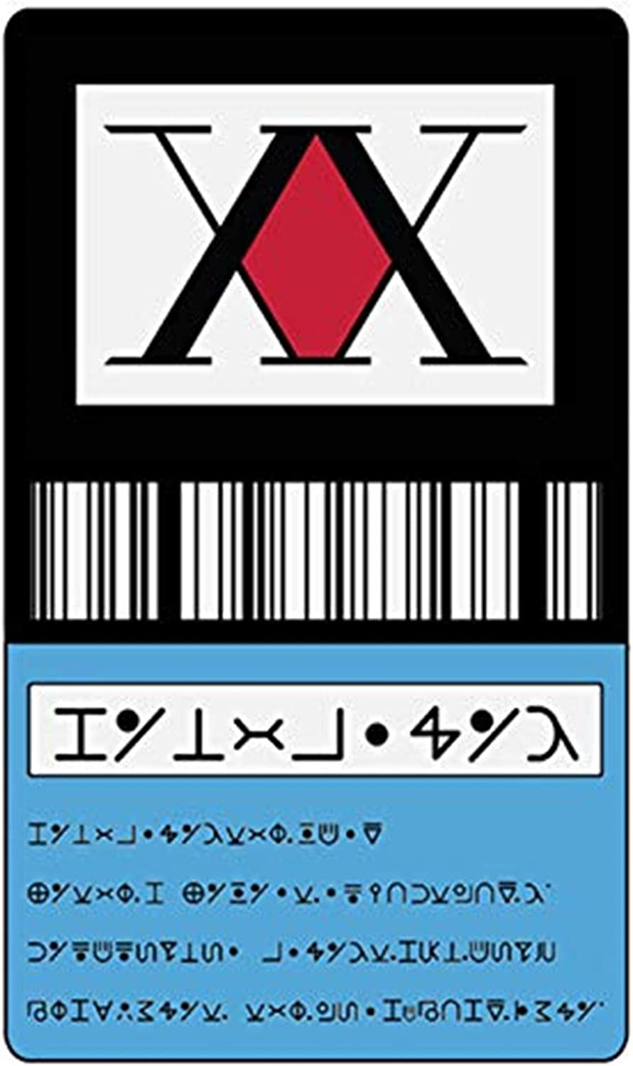 Amazon Com Japan Anime Hunter X Hunter License Card Sticker Gon Freecss Killua Zoldyck Kurapika Badge Bus Bank Credit Card Stickers New Blue Clothing