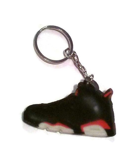 Air Jordan Shoe Key Chain Generation 6 VI Black Red White Colors B66