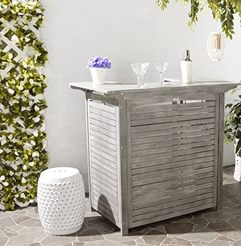 Safavieh Outdoor Living Collection Monterey Washed Bar Table