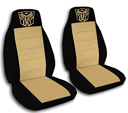 Admirable 2 Black And Tan Robot Seat Covers For A 2009 To 2011 Toyota Corolla Side Airbag Friendly Gmtry Best Dining Table And Chair Ideas Images Gmtryco