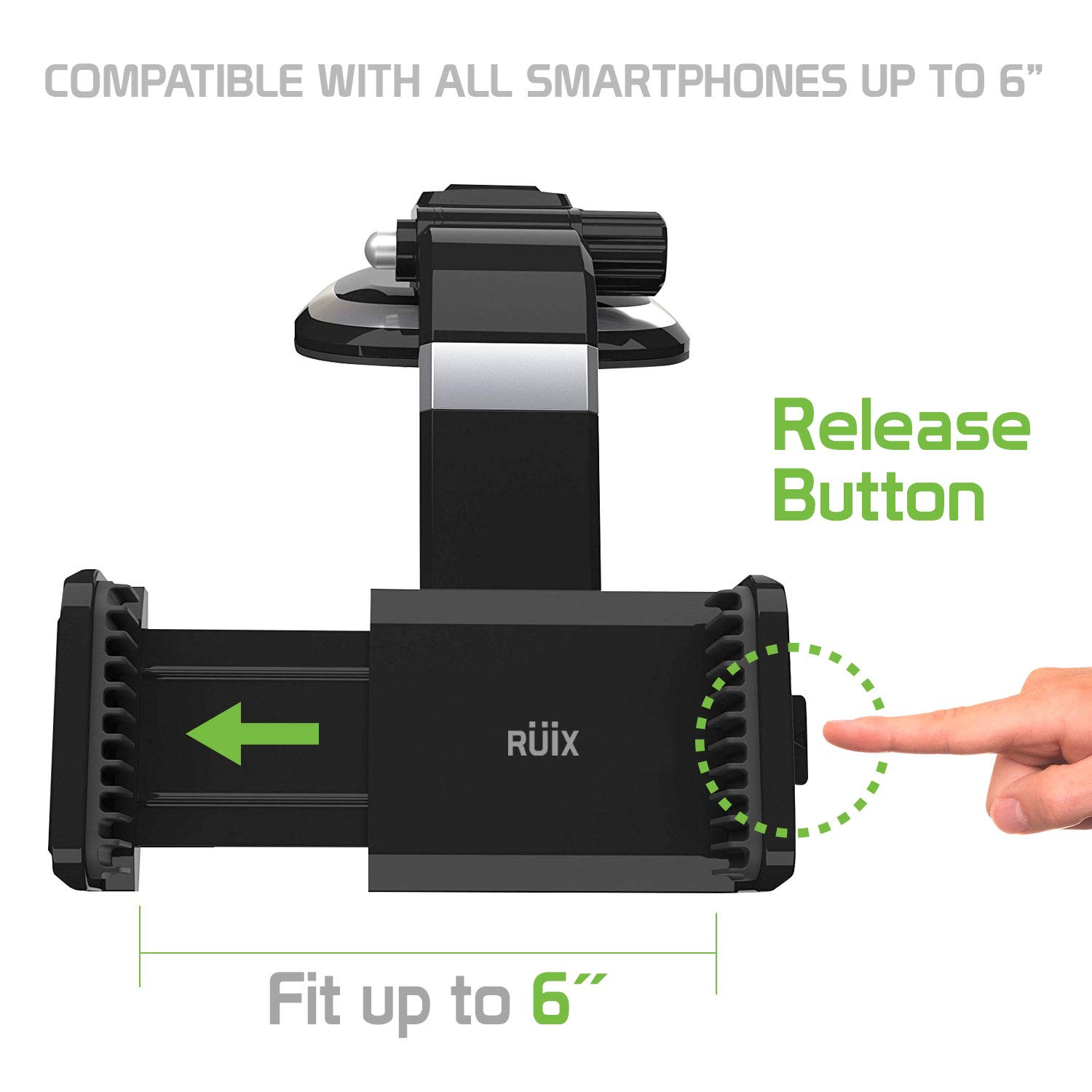 Ruix Dashboard Cell Phone Car Mount Holder Easy One Button Release Compatible for Kyocera DuraForce Pro 2,Dura XV LTE,Cadence,Palm,Sonim XP5,XP8,XP5s,RED Hydrogen One,Essential Phone CELLET