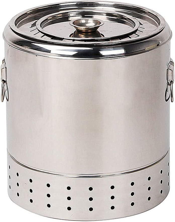 Jenify Smokeless Grill Household, Indoor Stuffy Oven Outdoor Stainless Steel Barbecue Simple Portable Healthy Charcoal Grill,Smallsize2