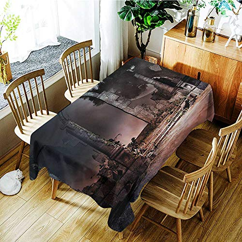 Angoueleven Gothic,Decor Collection Table Cloths Scary Graveyard Dark Night 70