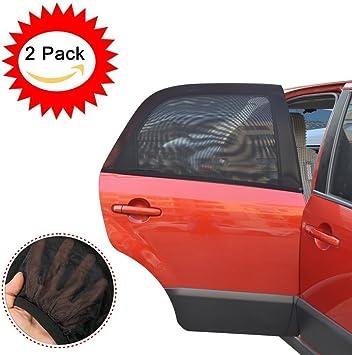 Towinle Sonnenschutz Auto Baby 2 Stück Sonnenblende Auto Mit Uv Schutz Im Rücksitz Universal Sonnenblende Doppellagige Netz Für Autos Und Suv Auto