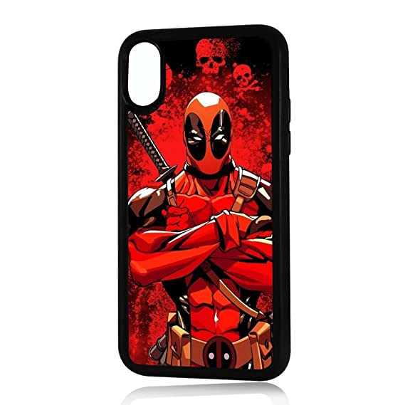 (For iPhone X)  Durable Protective Soft Back Case Phone Cover - A11287 Deadpool Ninja