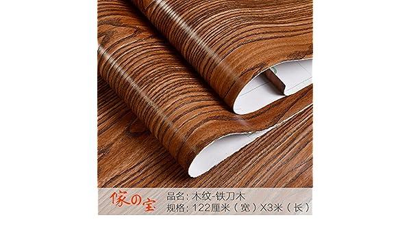 Jedfild Muebles de madera veteada impermeable adhesivo renovado salón de pared autoadhesivas de Papel pintado tapiz armario archivador archivador antigua ...