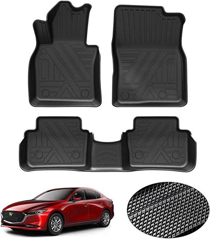 KUST Custom Fit Floor Mats for Mazda CX-30 2020-2021 All Weather Floor Mat Liner for CX30 1st /& 2nd Row