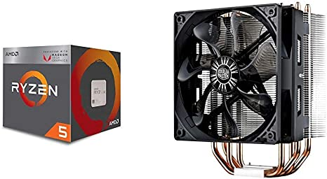 Amazon Com Amd Ryzen 5 3400g 4 Core 8 Thread Unlocked Desktop Processor With Radeon Rx Graphics And Cooler Master Hyper 212 Evo Cpu Cooler With Pwm Fan Four Direct Contact Heat Pipes Computers