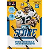 2018 Score NFL Football Unopened Blaster Box of Packs with One Memorabilia or Autographed Card in EACH Box