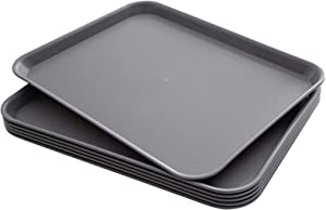 Eslite Rectangular Plastic Serving Trays,Fast Food Serving Cafeteria Trays,17