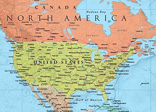 Rand McNally RM528959948 Rand McNally Full-Color 50 x 32 Laminated World  Wall Map