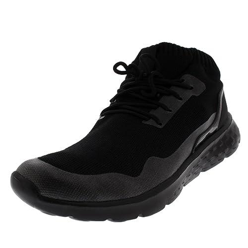 Hombre Ligero Aptitud Amortiguado Corriendo para Caminar Calcetín Fit Ata para Arriba Gimnasio Entrenadores: Amazon.es: Zapatos y complementos