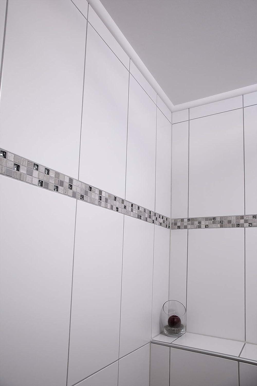 profil de chaise blanc moderne 22 x 22 mm XPS l/ég/ère et stable d/écoratif polystyr/ène extrud/é transition de plafond // de mur 2 m/ètres Moulure E-1